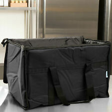 Insulated Food Delivery Bag Pan Carrier Black Nylon 23 X 13 X 15