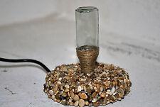 lampada abat-jour artigianale da compagnia vetro, legno e led