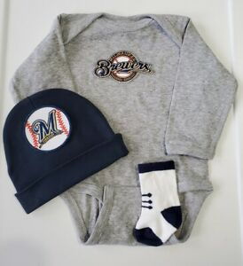 Brewers baby/infant clothes Brewers baby gift Milwaukee baseball baby