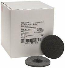 "3M 07514 Scotch-Brite Roloc 3"" Super Fine Surface Conditioning Discs, Box of 25"
