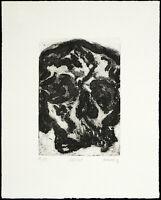 """Kunst in der DDR. """"Schädel"""". Radierung von Jürgen WENZEL (*1950 D), handsigniert"""