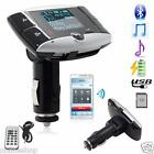Bluetooth Car Kit FM Transmitter HandsFree Phone MP3 Player SD/MMC/USB + Remote