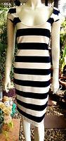 Elegantes Fashion Dress Wrap Sommer Kleid Baumwolle Weiß/Blau Strand Gr.S-36/38