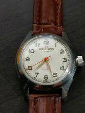 1950s WAKMANN MENS 17 JEWEL WITH RADIUM DIAL AUTOMATIC S/S EXCELLENT CONDITION!!