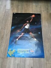 Vtg 1993 Nike Air Jordan Bulls Aerospace Jumpman Dunk Poster Original