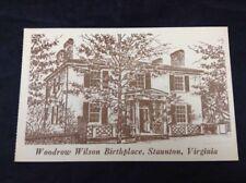 Stanton Virginia Woodrow Wilson Birthplace Vintage Unposted Postcard