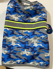 New listing Top Paw Reflective Dog Coat Fleece Lined Blue Camo Size Large