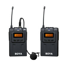 BOYA By-wm6 Pro UHF Wireless Microphone System Lavalier for Eng DSLR Camera W1y