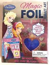 Disney Princess FROZEN Magic Foil Craft Art Book Stickers Elsa Anna New