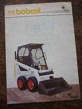 SERIE 400 del Bobcat (Skid Steer gommate) BROCHURE 1983 (440 443)