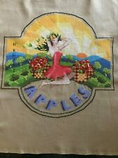 Completed Cross Stitch - Apples