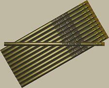 12 pkg - Gold Personalized Hexagon Pencils - ** FREE PERZONALIZATION**