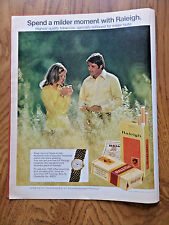 1972 Raleigh Cigarettes Ad  Couple Vendome Watch