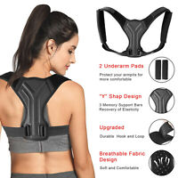 Padding Men Women Adjustable Posture Corrector Back Shoulder Support Brace Belt