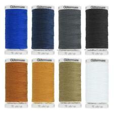 Set of 8 Gutermann denim thread spools - No 50 - 100m each - 8 different colors