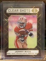 Jerry Rice 2020 Panini Illusions Clear Shots Insert #20 San Francisco 49ers