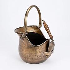 Inglenook Victorian Premium Coal Bucket With Shovel Antique Brass ING003