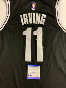 Kyrie Irving Signed Jersey PSA/DNA COA Brooklyn Nets Adult Large L FULL SIG Rare