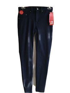 Spanx Super Skinny Leggings Jeans Waist 26 Length 29 Blue Jean New