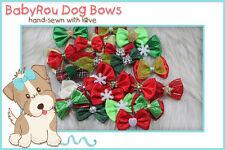 ~BabyRou~ 50pc Dog Grooming Pet Bows (Christmas ribbons) Groomers' X'mas Special