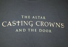 CASTING CROWNS the altar and the door 2008 tour shirt large oop Christian music