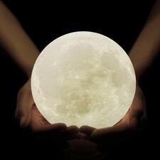 3D Printing Moon Lamp Rechargeable Night Light Dimmable Touch Control Brightness