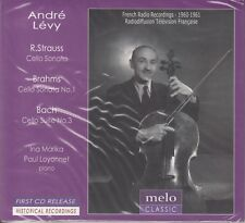 ANDRE LEVY R.Strauss Brahms Cello Sonatas, Bach Cello Suite Solo #3 CD NEW