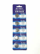 5pc CR1632 CR 1632 3V Lithium Coin Cell Button Battery Batteries