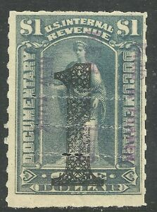 U.S. Revenue Documentary stamp scott r190 - $1.00 overprint issue of 1902 - x