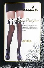 Ladies Over The Knee Hold Up Stockings Socks Thigh High Bows Fancy Dress 1130
