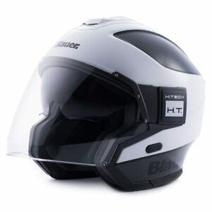 Open Face Helmet with Inner Smoke Sun Shield And Outer Clear Visor