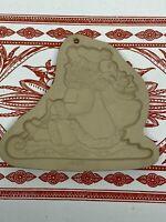 1999 Brown Bag Cookie Art Sledding Santa Claus Christmas Cookie Mold Rare
