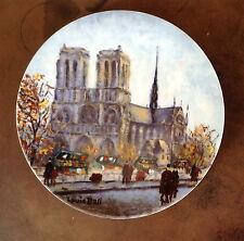 Limoges La Cathedrale Notre Damla e La Ville De Paris Par Louis Dali Plate AE450