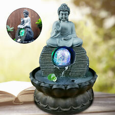 Feng Shui Lucky Crafts Indoor Waterscape Auspicious Buddha Statue Flowing Gift