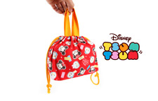 DISNEY TSUM TSUM SKETCH Kids Lunch Box Pouch 100% Cotton Made in JAPAN