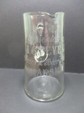VINTAGE ADVERTISING GLASS WATER JUG - J.STEVENS , 45 MARSHALL STREET , SHOP ????
