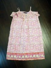 Antik Batik Girls Indian Floral Print Dress - size Girls 12
