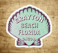 "Grayton Beach Florida 3"" X 2.75"" Sticker Decal Vinyl 30A Emerald Coast 30 A"