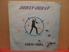 "Duran Duran - A View to a Kill 7"" 45 Single Picture Sleeve SPAR 89061 YUGOSLAVIA"