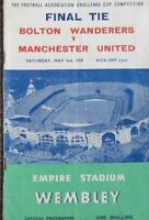 1958 FA CUP FINAL. Bolton Wanderers v Manchester United.