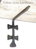 "Wrought Iron 6.8"" Shelf Bracket Rustic Antique Handmade Metal Wall Decor Holder"