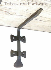 "2 Hand Forged 6.8"" Shelf Brackets Wrought Iron Rustic Antique Wall Decor Holder"