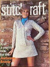 Vintage Stitchcraft Magazine November 1969 Knitting Crochet Ladies Childs Mens