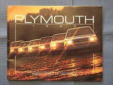 1985 PLYMOUTH BROCHURE MATCH THEM IF YOU CAN VOYAGER CARAVELLE SE RELIANT TURISM