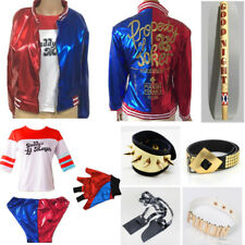 Cosplay Harley Quinn Suicide Squad Daddy's Coat Lil Monster Jacket T-Shirt Short