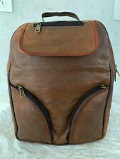 Men's Pure Leather Bag Goat Genuine Vintage Messenger Laptop Rucksack Backpack