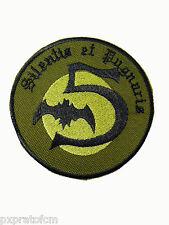 Patch Militare Paracadutisti 5 Cp Pipistrelli Verde Toppa per Mimetica Vegetata