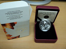 2013 Canada 25th Anniversary High Relief Piedfort Silver Maple leaf Coin