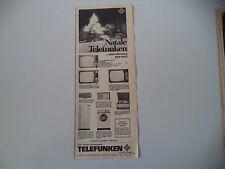 advertising Pubblicità 1965 TELEVISORE TELEFUNKEN 2315/36 B/36 L/LAVATRICE DOMEX