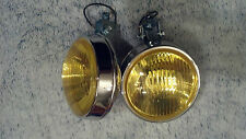 bumper mount fog lights pair vw bug van truck mgb buick toyota gm chevy honda gt